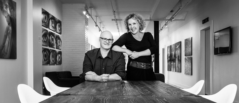 Samuel Steimer et Brigitte Fortin, propriétaires