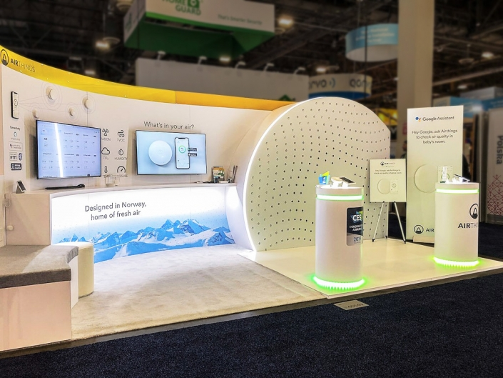 Custom-Booth-Airthings-CES-2019-Curves-Design