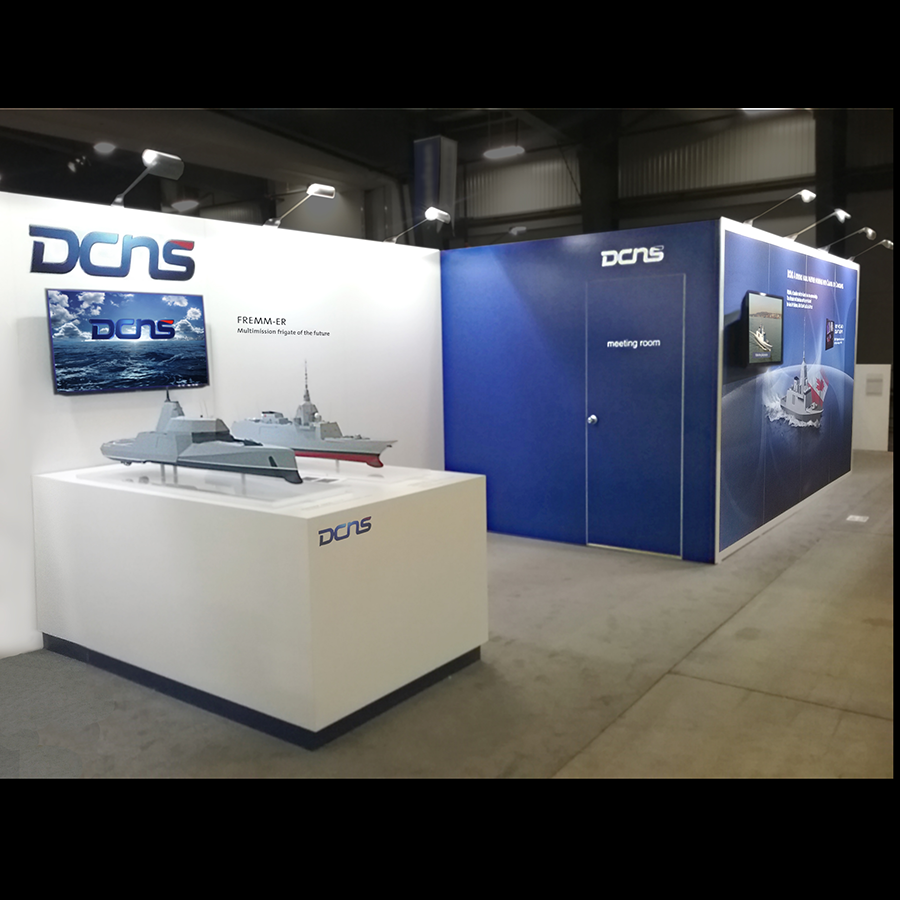 Trade Show Booth Dimensions : Dcns totm exposition