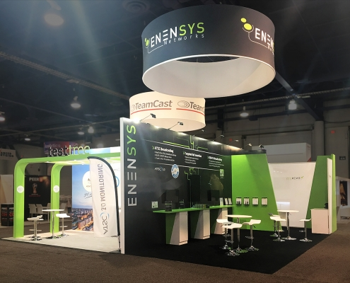 Custom-Booth-Enensys-TeamCast-TestTree-NAB-2018