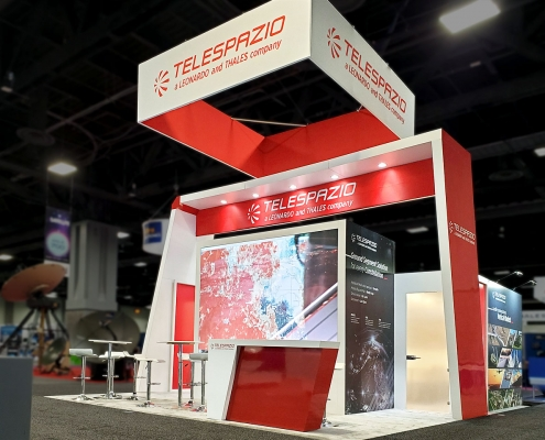 Custom-Booth-Leonardo-Telespazio-Satellite-2020
