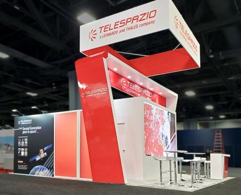 Stand-sur-Mesure-Leonardo-Telespazio-Satellite-2020-Enseigne