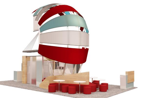 services de conception, construction et installation de stands d'exposition